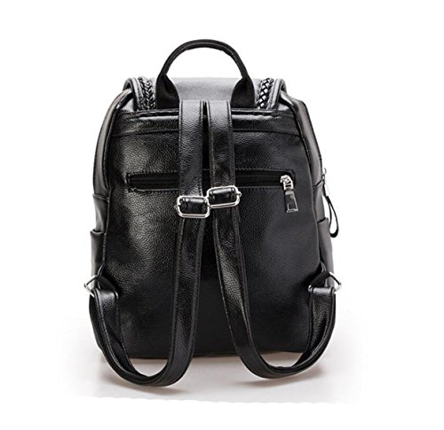 Damen Schultertasche Student Tasche Tasche Rucksack Lässig Mode Einfach Black