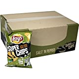 Lays Super Chips Salt'n Pepper 20 x 200g (Riffel Chips Salz & Pfeffer)