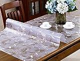 Tischdecken PVC Kristall Platte Wasserdicht Öldicht Hohe Temperaturbeständigkeit Tee Tischset Kunststoff Transparent Matt (Farbe : Thickness -2mm, Größe : 85 * 140cm)