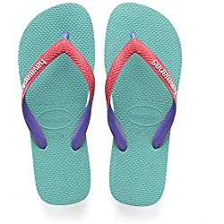 Havaianas Top Mix, Chanclas para Unisex Adulto, Multicolor (Lake Green/Flamingo), 41/42 EU [39/40 BR]