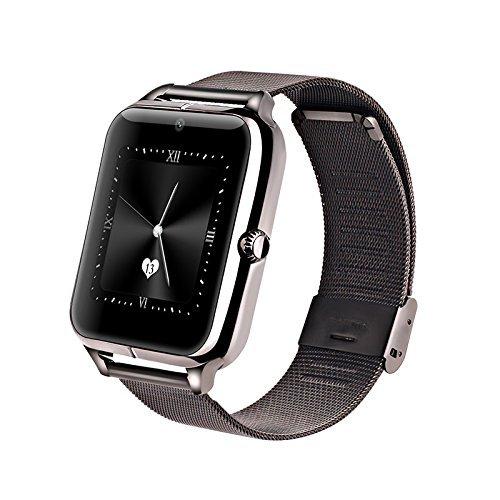 Galleria fotografica Efanr Z50Bluetooth intelligente dell' orologio da polso Smartwatch telefono Mate pedometro attività fitness tracker NFC con telecamera SIM TF Card slot per smartphone Android