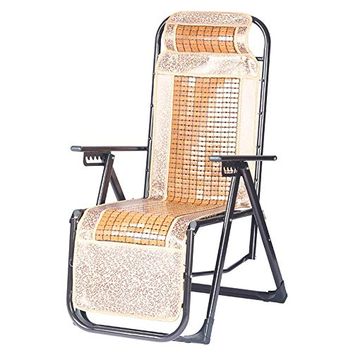 SXYULQQZ Mediterranen Stil Sommer Klappstuhl durch den kühlen Stuhl nach Hause einzigen Stuhl Liege im Freien tragbaren Strandkorb, 2 Stile / - / (Farbe: A)