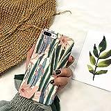 JAWSEU - Cover posteriore rigida in policarbonato opaco, compatibile con iPhone 7 Plus/8 Plus con motivo carino, Cactus