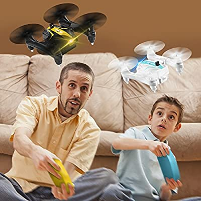 Mini Battle Drone, AgoHike Battle Folding Quadcopter 2.4G 4-Channel 6-Axis Gyro 3D Flip Remote Control Quadcopter RTF with Headless Mode, One Key Start / Landing (One Pair)