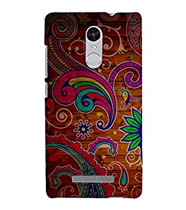 Animated Royal Pattern with Wooden back ground 3D Hard Polycarbonate Designer Back Case Cover for Xiaomi Redmi Note 3 :: Xiaomi Redmi Note 3 (3rd Gen)