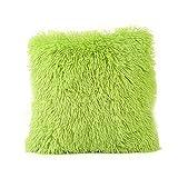 FORH weich flauschige Plüsch Kissenbezug 43cm*43cm sofa deko kissen gemütlich Sofa Taille Throw Kissenbezug Home Decor Chic bett kleine kissen (Grün)