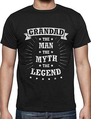 Grandad The Man The Myth The Legend - T-Shirt Geschenk für Großvater T-Shirt Schwarz
