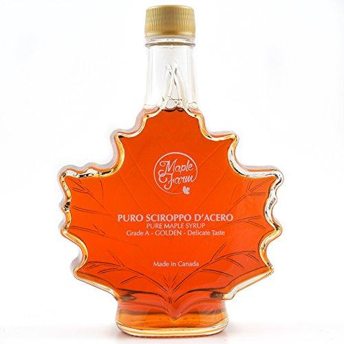 Puro sciroppo d'acero Canadese N.1 Light - Bottiglia a foglia - 661g (500ml) - Original maple syrup