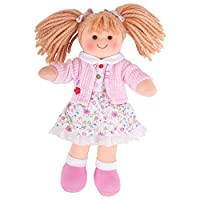 "Bigjigs Toys Poppy Doll 28cm (11"") - Ragdoll Cuddly Toy"