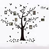 Wall Decals - Art Stickers Waterproof, Huge Size Family Photo Frame, Tree and Birds Pattern, for Home Kitchen Bedroom Living Room Decor - [ DAGO-Mart Quality Guarantee ]