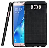 Jkobi 360* Protection Premium Dotted Designed Soft Rubberised Back Case Cover For Samsung Galaxy J5 2016 - Black