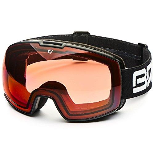 Briko nyira 7.6P1, Schutzbrille Unisex–Erwachsene, a32matt/Black/P1, Einheitsgröße