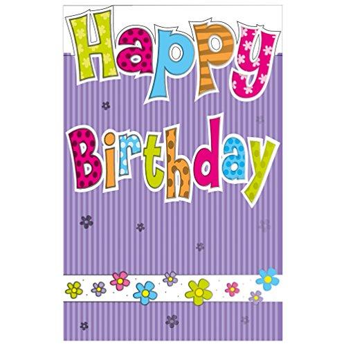 Susy Card Glückwunschkarte, Happy Birthday, 1 Stück in Folie