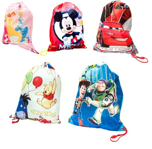 Disney-Character-School-Nursery-Trainer-Shoe-Pe-Gym-Sport-Kit-Drawstring-Bag