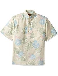 Kahala Men's K-Kloth Poly Cotton No Iron Pull Over Hawaiian Shirt