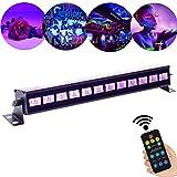36W UV Beleuchtung Schwarzlicht 12LED x 3Watt ALICE DREAMS UV LED Bar Bühnenbeleuchtung mit Fernbedienung für Party Bar Karneval Halloween und Weihnachten (12Led) (12)