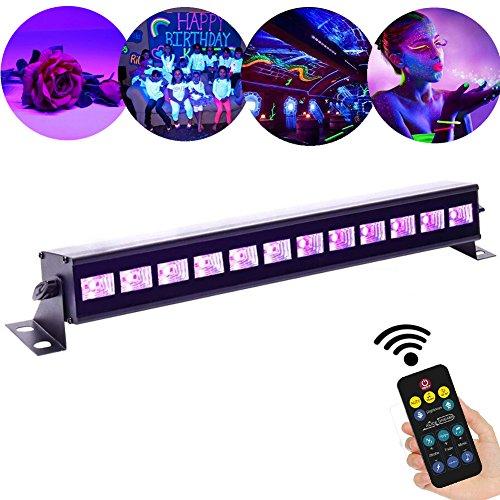 chwarzlicht 12LED x 3Watt ALICE DREAMS UV LED Bar Bühnenbeleuchtung mit Fernbedienung für Party Bar Karneval Halloween und Weihnachten (12Led) (12) ()