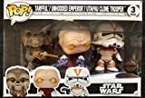 Set 3 Figuren Pop. Star Wars Tarfful Unhooded Emperor Utapau Clone 2017 Fall Convention Exclusive