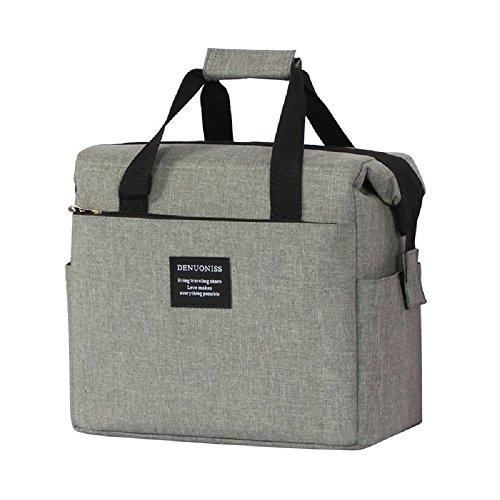 Hhgold borsa termico pranzo porta alimenti grigia ufficio (colore : grigio)