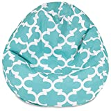 #8: Aart Moroccan Tile Design Cotton Canvas Printed Bean Bag Cover With Beans (Xxl)