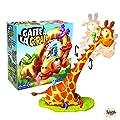 Splash Toys- GAFFE A Jeu d'action-des Petits Oiseaux malicieux tentent de Grimper Tout en Haut du Cou d'une Girafe chatouilleuse, 30125, Jaune