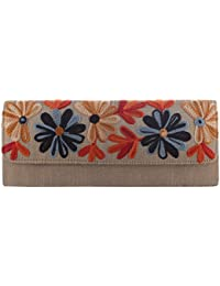 Mela Kashmiri Embroidered, Exclusive, Traditional, Ethnic Women`s Clutch-Antique Gold