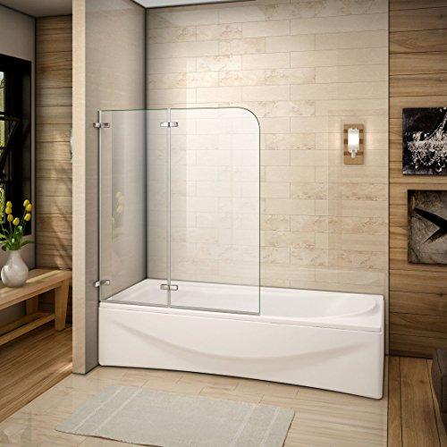 110x140cm Mamparas/pantalla para bañera biombo baño plegable de Aica