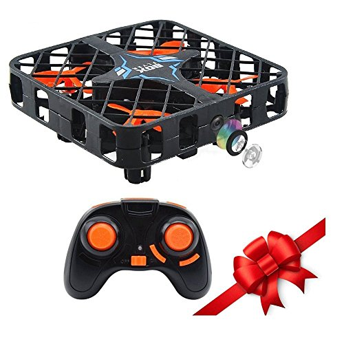 Fancywhoop 2.4 GHz Micro Quadcopter Box mit WiFi FPV Kamera 6-Achsen Gyro 4 CH Super Mini RC Drone Höhe Hold Headless Modus (Automatische Sperre Wifi)