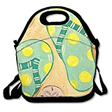 Ntpclsuits Lunch Boxes Oil Painting Flip Flops Lunch Tote-Personalized Lunch Bags