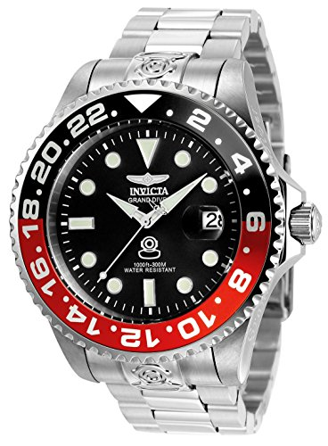 Invicta 21867 Pro Diver Herren Uhr Edelstahl Automatik grauen Zifferblat