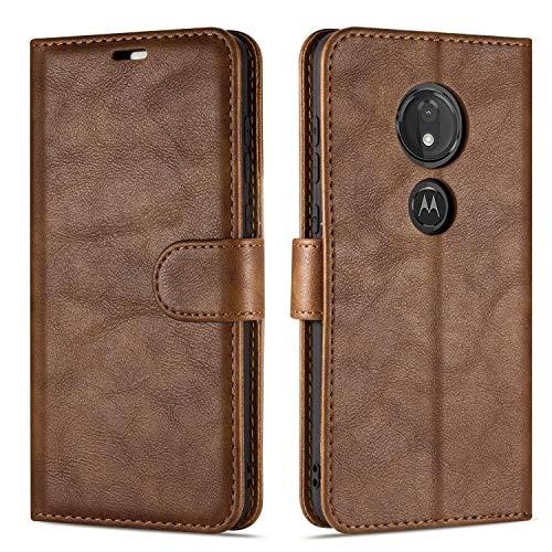 Case Collection Hochwertige Leder hülle für Motorola Moto G7 Power Hülle (6,2