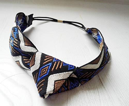 TDTSHOP Frauen stirnband Gestickte geometrische Linien ethnischen Wind Haarband Stirnband geknotet - Satin Gesticktes A-linie