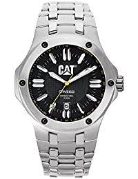 Cat Men's Quartz Watch with Black Dial Analogue Display and Silver Stainless Steel Bracelet A1.141.11.124