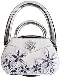 Gancho Bolsa porte-sac gancho de bolso plegable forma de bolsa de porcelana (color blanco)