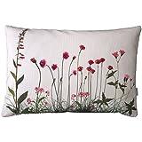 rosa Wiesenblumen, Kissenbezug, Baumwolle, 40x60cm