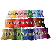 200 échevettes de fil multicolore pour point de croix broderie tricotage crochet