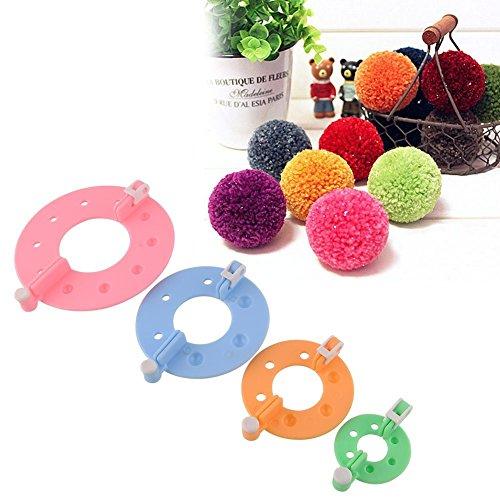 EFACONCEPTGröße Pom Pom Maker Fluff Kugelweber - Farbe je nach Verfügbarkeit - Diagramm Hören