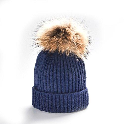 Locura® Nuova collezione - Autunno/Inverno 2016 - Moda bambino - cappello di cashmere e lana (Cappello Di Inverno Guanti)