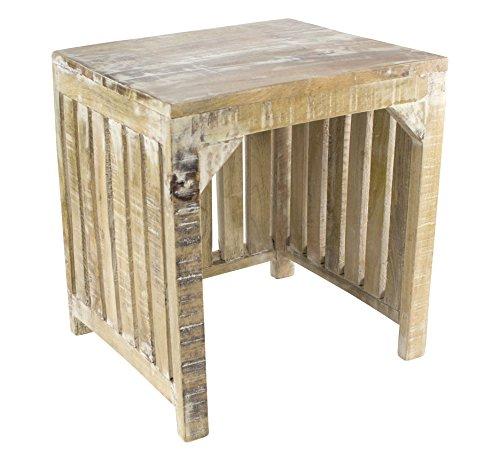 Decoline Beistell-Tisch aus Mango-Holz 1 Stück - S (Mango-holz-tisch)