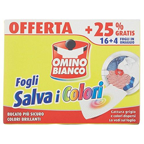 Omino Bianco Fogli Salva i Colori - 20 Fogli