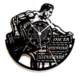 Instant Karma Clocks Orologio da Parete in Vinile Idea Regalo Vintage Handmade Allenamento Gym Fitness Palestra