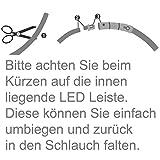 2-TECH LED Visio Leuchthalsband in PINK Deluxe für Hunde und Katzen universell kürzbar, Halsumfang bis 55 cm - 4