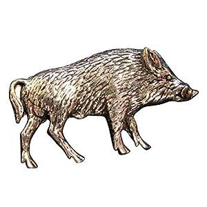 Brazil Lederwaren Ansteckpin Wildschwein   für den Hut oder das Revers   Anstecker Pin Button