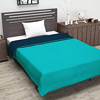 Divine Casa Solid Microfibre Lightweight AC Single Dohar (Blue Atoll and Dark Blue)