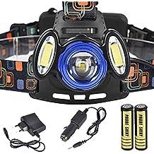 Malloom 15000Lm 3x XML T6 Recargable Luz de cabeza Faro linterna USB lámpara + 18650 bateria + cargador