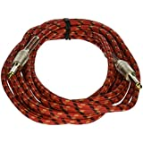 Stagg SGC6VT RD 6m S Series Vintage Tweed Instrument Cable - Red