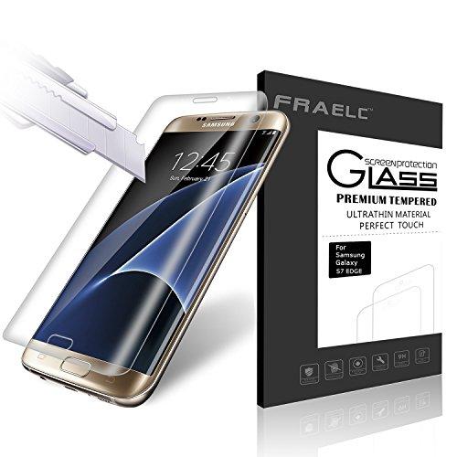 Fraelc® Samsung Galaxy S7 Edge Folie, 9H Hardness Panzerglas Full Cover Schutzfolie für Samsung Galaxy S7 Edge SM-G935F Displayschutzfolie (Transparent)