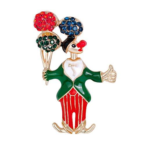 XY Fancy Weihnachten niedlichen Cartoon Clown Brosche lustige exquisite kreative Breastpin - Halloween-lustige Cartoons
