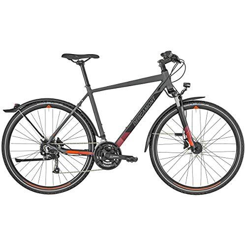 Bergamont Helix 4 EQ Cross Trekking Fahrrad grau/schwarz/grün 2019: Größe: 52cm (170-178cm)