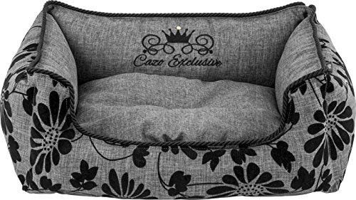 Design Luxus Royal Bed Bett Hundebett Hundekorb Bett Korb Tierbett Hund Hundekissen Hundematte grau Gr. M